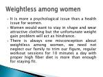 weightless among women