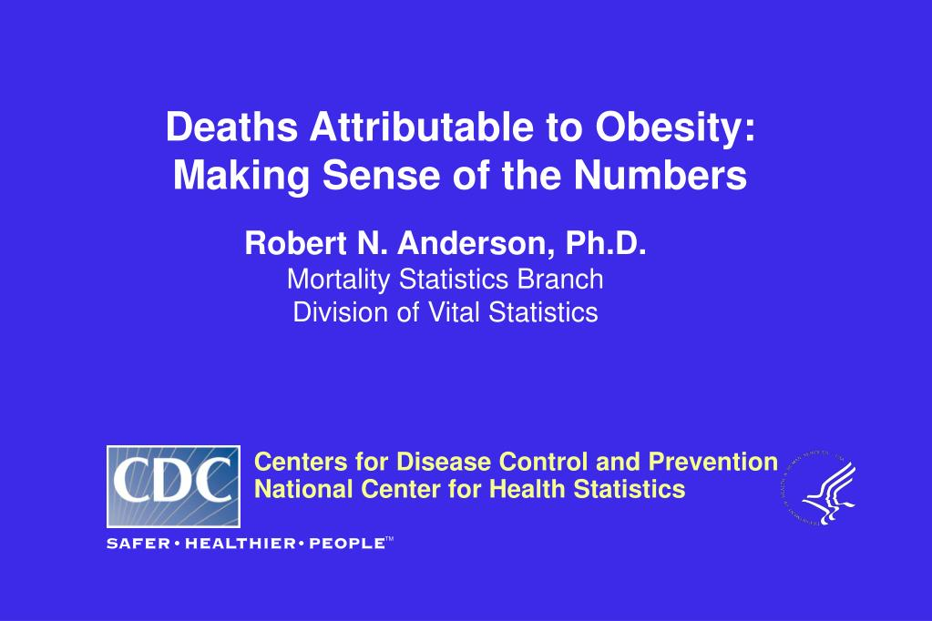 deaths attributable to obesity making sense of the numbers l.