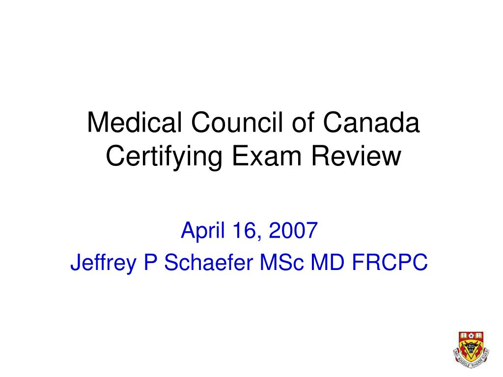 medical council of canada certifying exam review l.