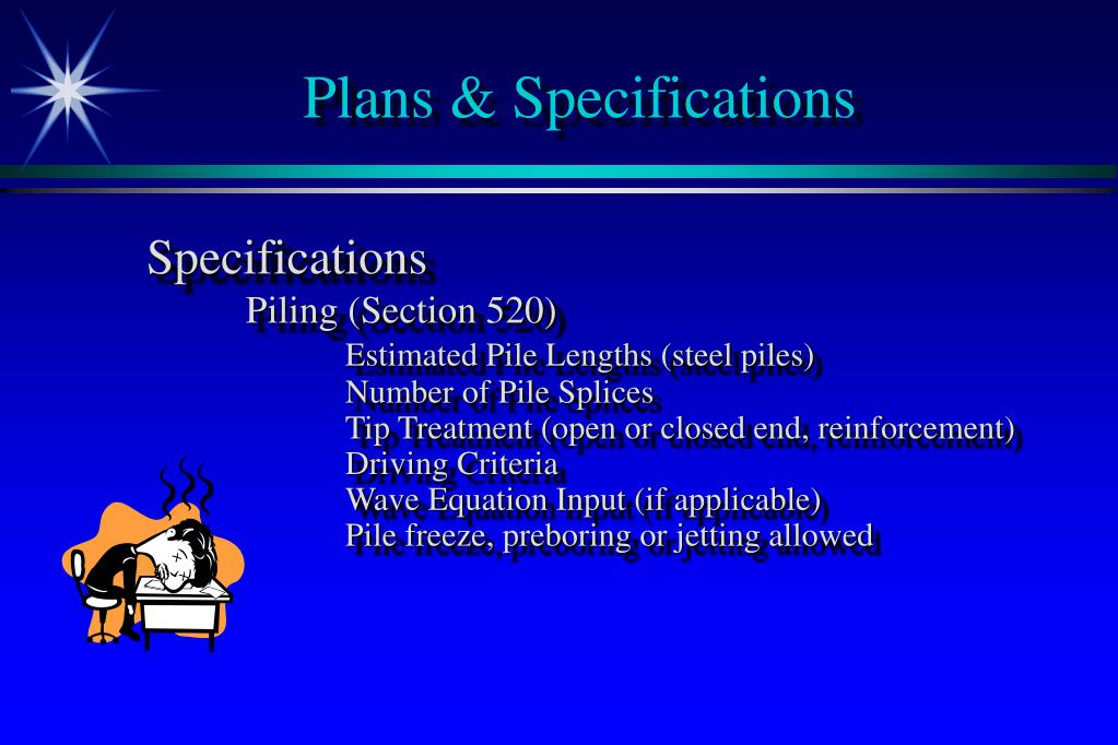 Plans & Specifications