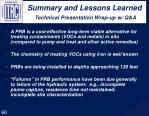 summary and lessons learned technical presentation wrap up w q a