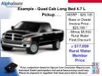 example quad cab long bed 4 7 l pickup