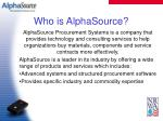 who is alphasource