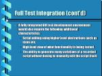 full test integration cont d16