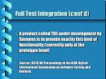 full test integration cont d17