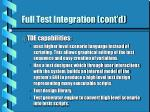 full test integration cont d18