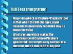 full test integration