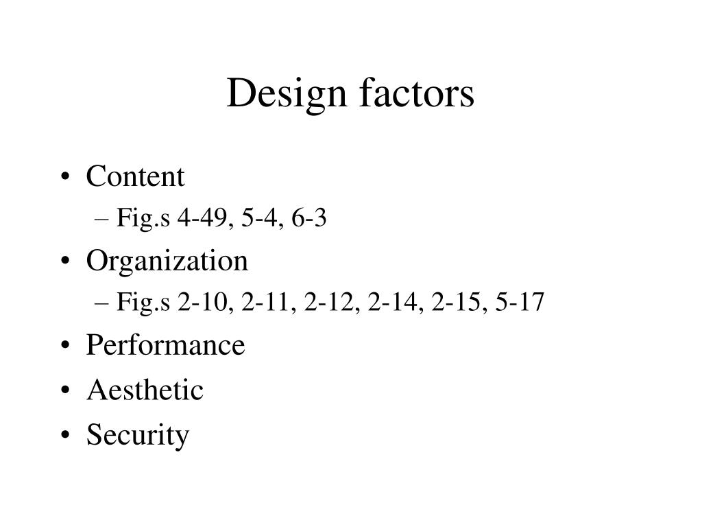 design factors l.