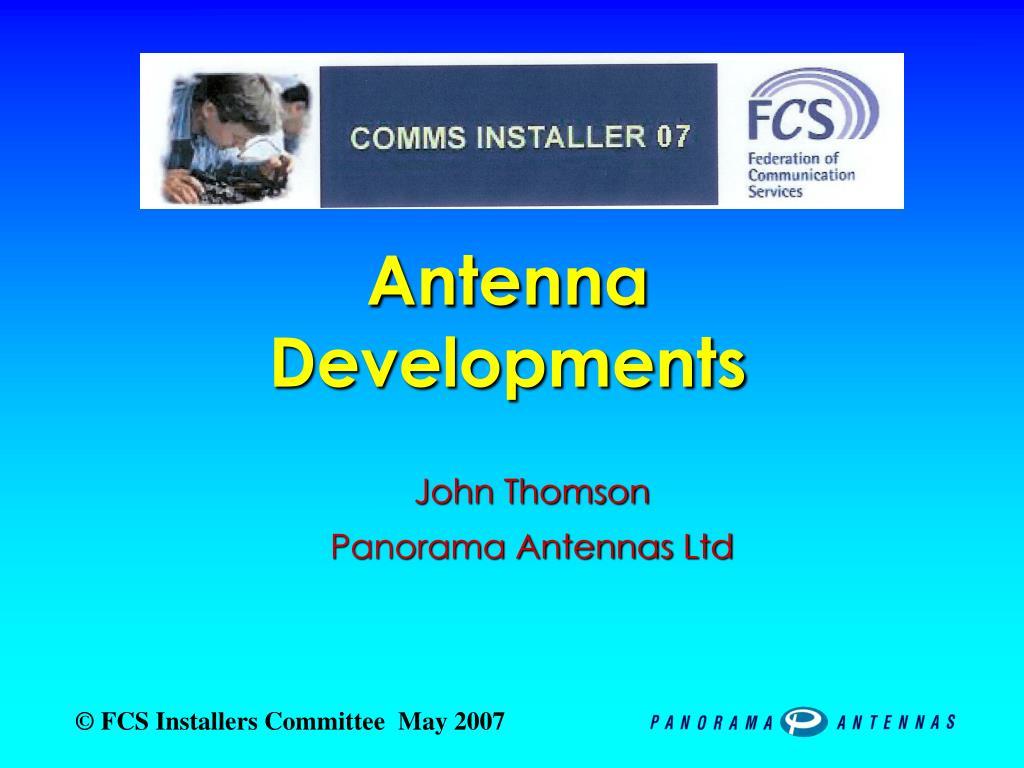 antenna developments l.