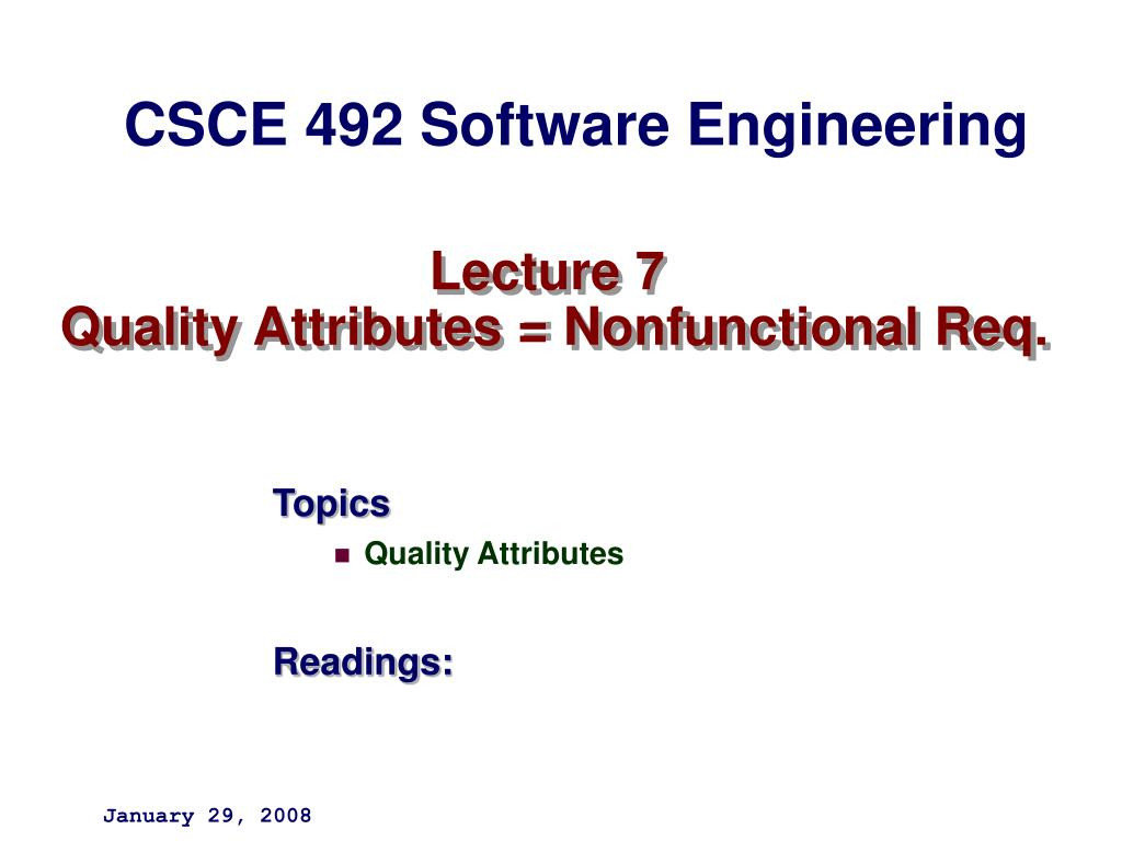 lecture 7 quality attributes nonfunctional req l.