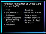 american association of critical care nurses aacn