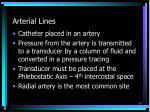arterial lines