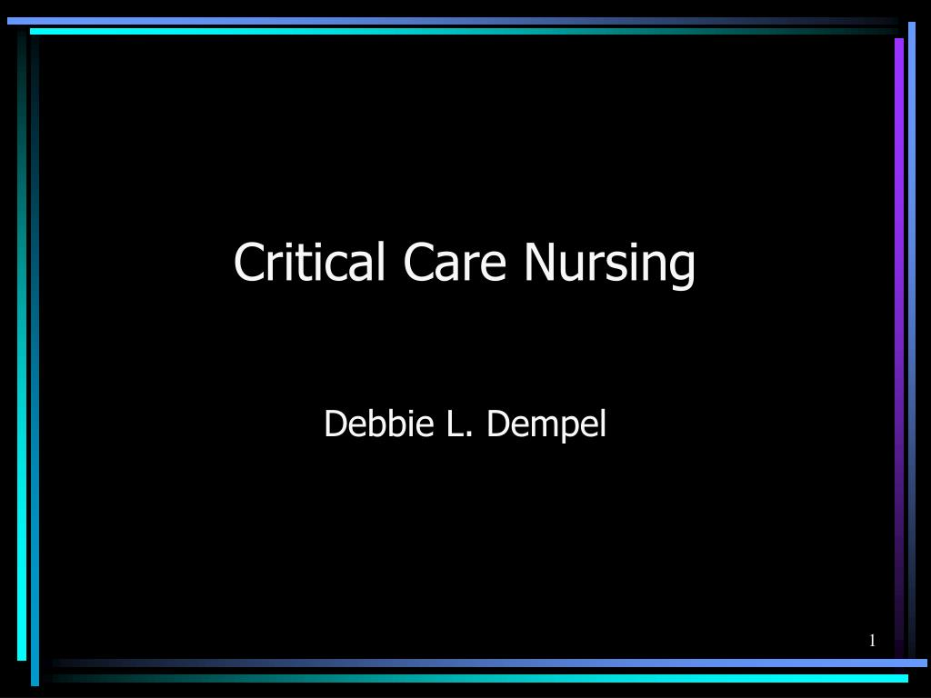 critical care nursing l.