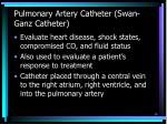 pulmonary artery catheter swan ganz catheter