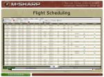 flight scheduling