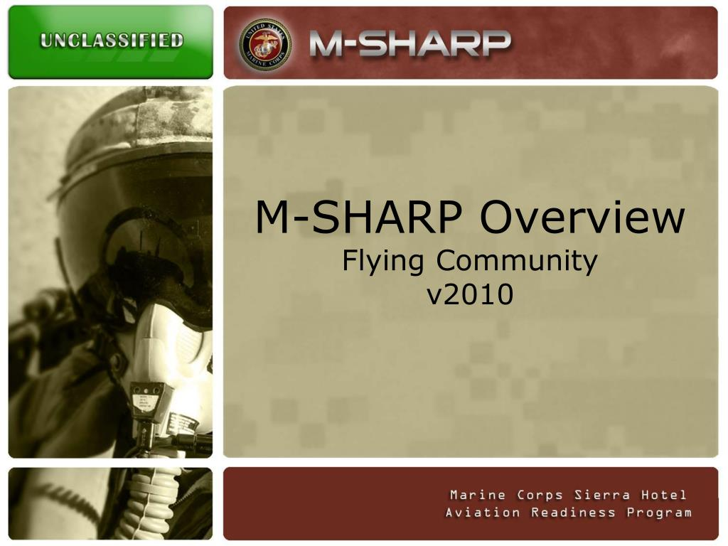 m sharp overview flying community v2010 l.