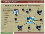 multi user multi level environment