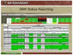 orm status reporting