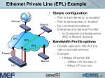 ethernet private line epl example