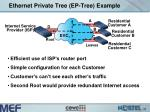 ethernet private tree ep tree example