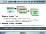 mef ethernet service definition framework