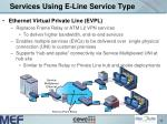 services using e line service type13