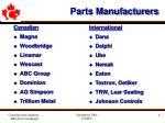 parts manufacturers