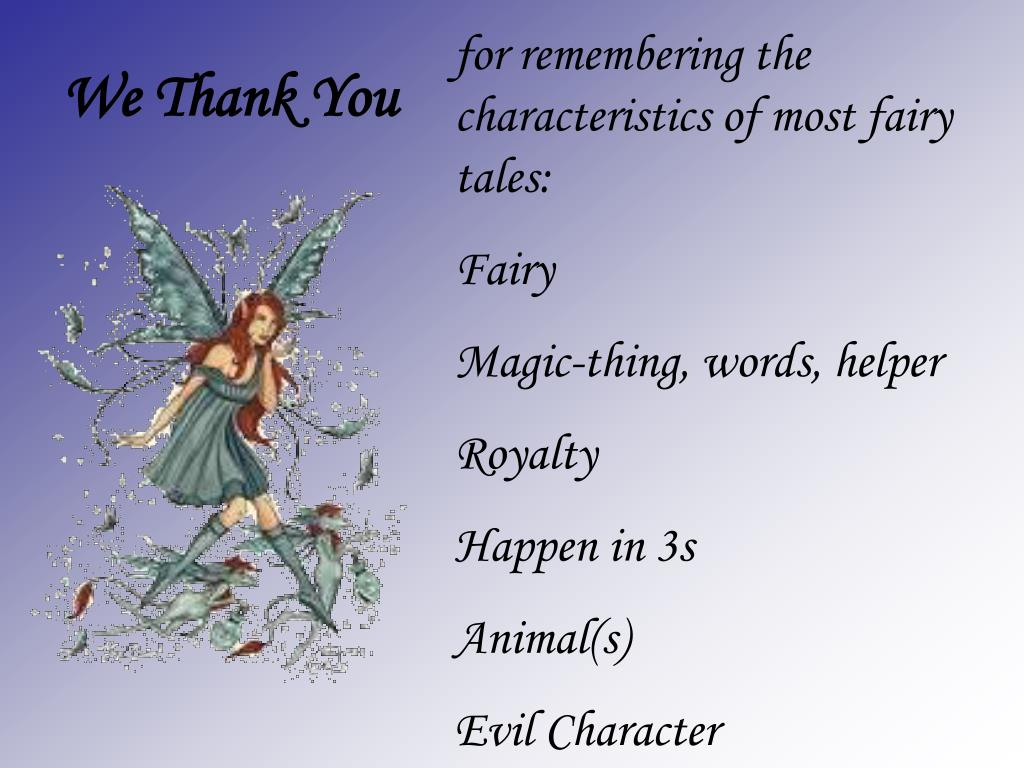 Ppt Fairy Tale Characteristics Attributes Powerpoint