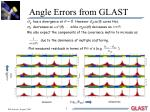 angle errors from glast