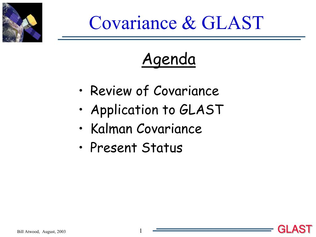 covariance glast l.