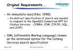 original requirements