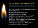 eras resources to download