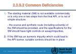2 3 s 2 common deficiencies