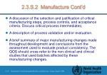 2 3 s 2 manufacture cont d