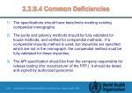2 3 s 4 common deficiencies