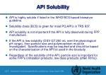 api solubility