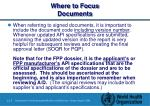 where to focus documents43