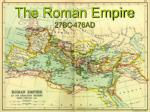 the roman empire 27bc 476ad