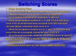 switching scores