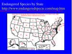 endangered species by state http www endangeredspecie com map htm