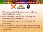 how shall vedic mathematics help you