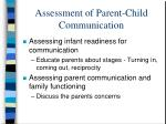 assessment of parent child communication