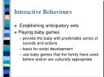 interactive behaviours29