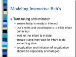 modeling interactive beh s