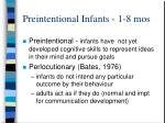 preintentional infants 1 8 mos