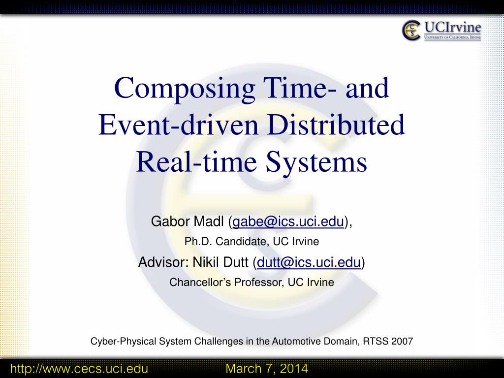 composing time and event driven distributed real time systems l.
