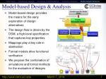 model based design analysis