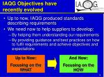 iaqg objectives have recently evolved