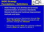 iaqg strategy foundations definitions