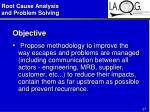 root cause analysis and problem solving